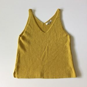 Loft Yellow Sweater Tank Top Size XL